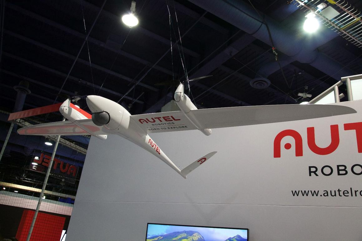 The VTOL Kestrel drone on show at CES 2016