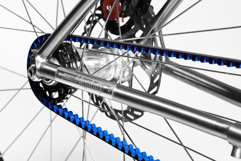 Both Budnitz bikes feature a Gates carbon belt-driven single speed drive, or a belt-driven Shimano Alfine 11-speed internal hub