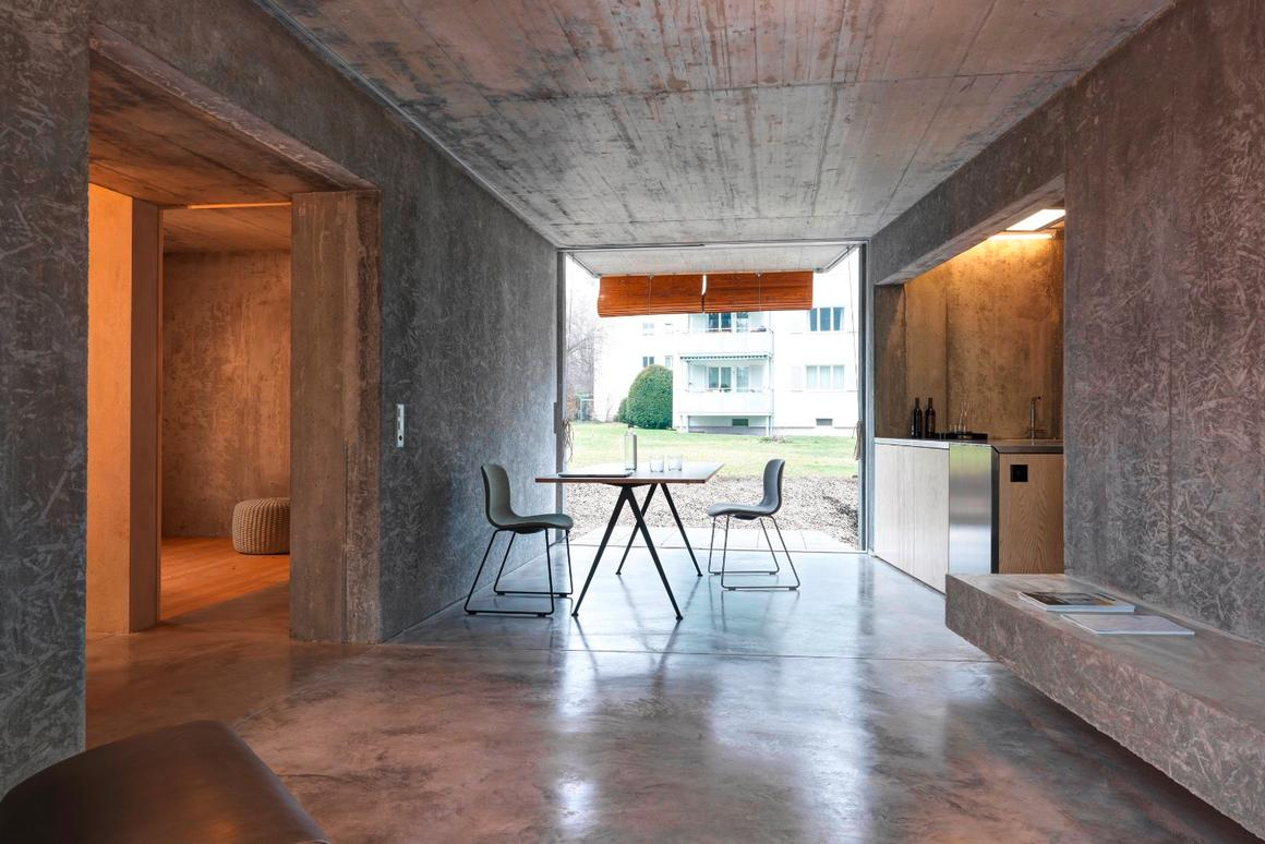 Affordable Housing Langgrütstrasse's interior is mostly made up of concrete