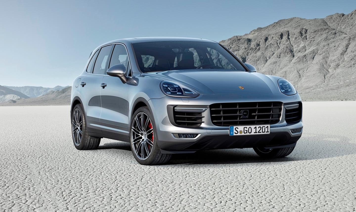 The 520-hp 2015 Cayenne Turbo is the most powerful of the new SUVs