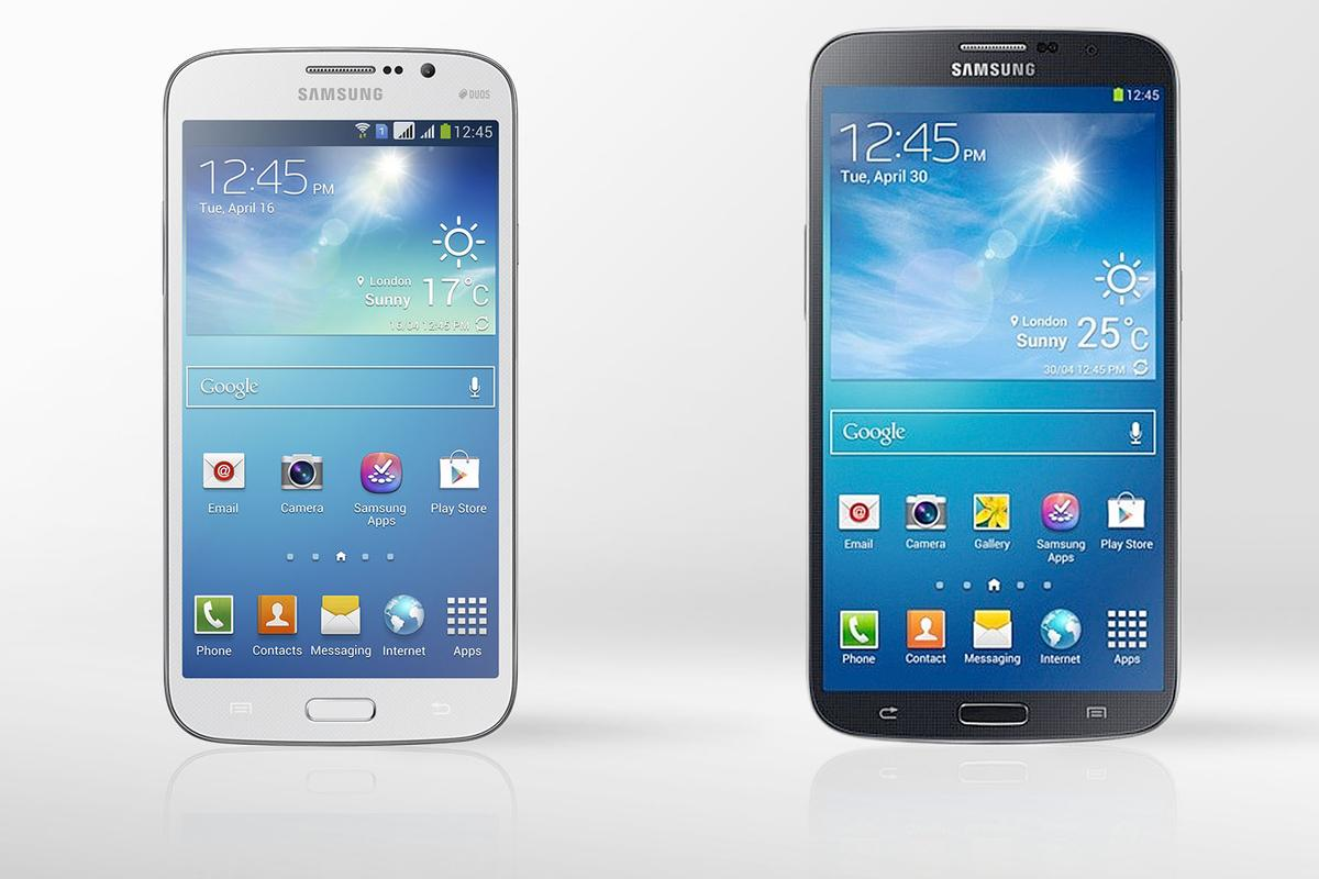 Gizmag compares the specs (and other features) of the Samsung Galaxy Mega 5.8 and 6.3