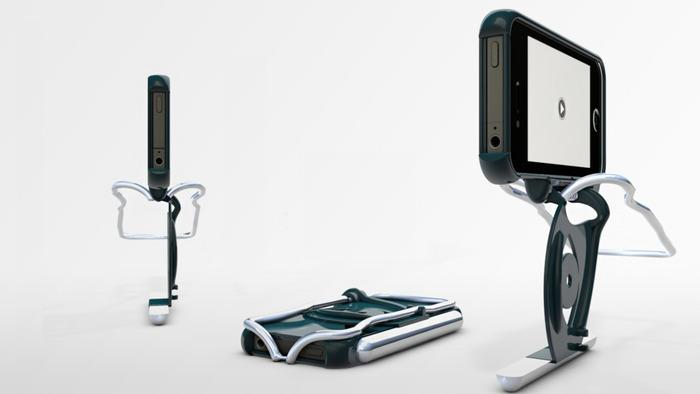 The Stabil-i Case is designed to steady up the user's hand-held iPhone video footage