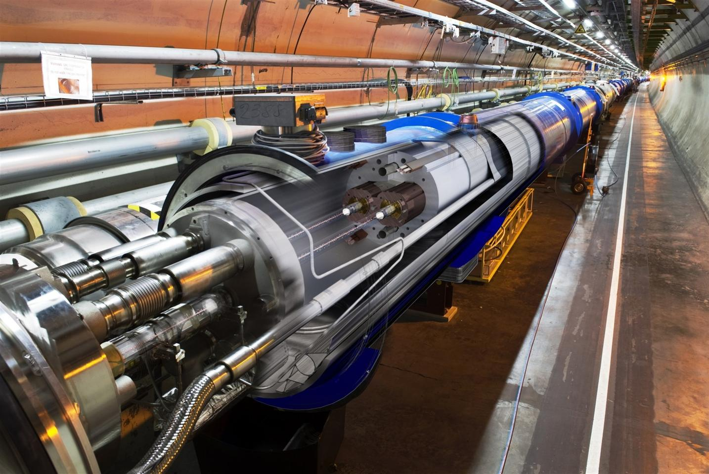 A 3D cross-sectionview of the LHC