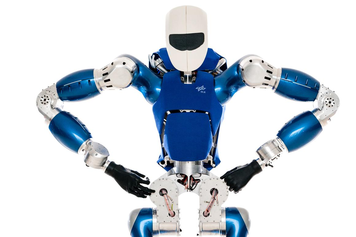 The German Aerospace Center's new humanoid robot TORO looks like it means business (Photo: DLR)