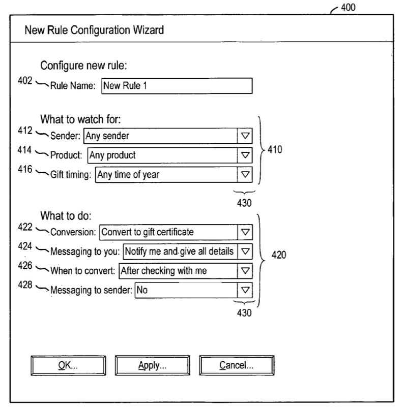Illustration from Amazon's patent application for a gift exchange system