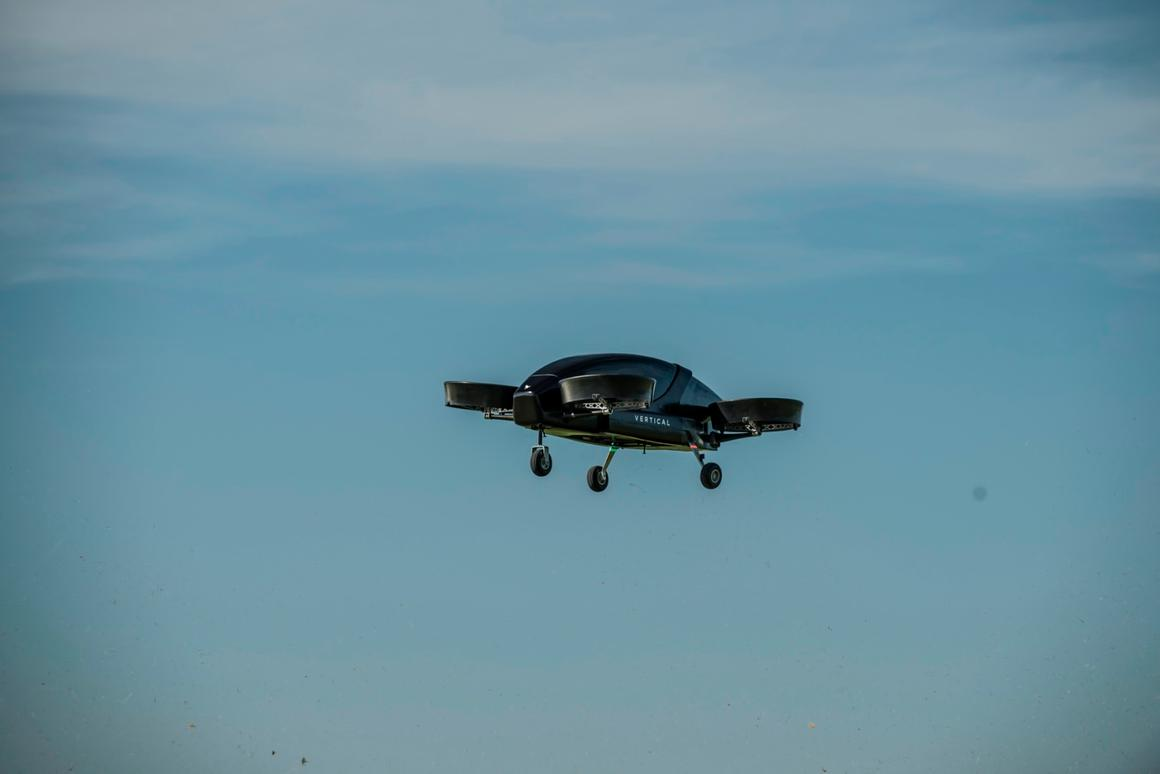 The Vertical Aerospace eVTOL prototype took to the air above Cotswold Airport in June 2018