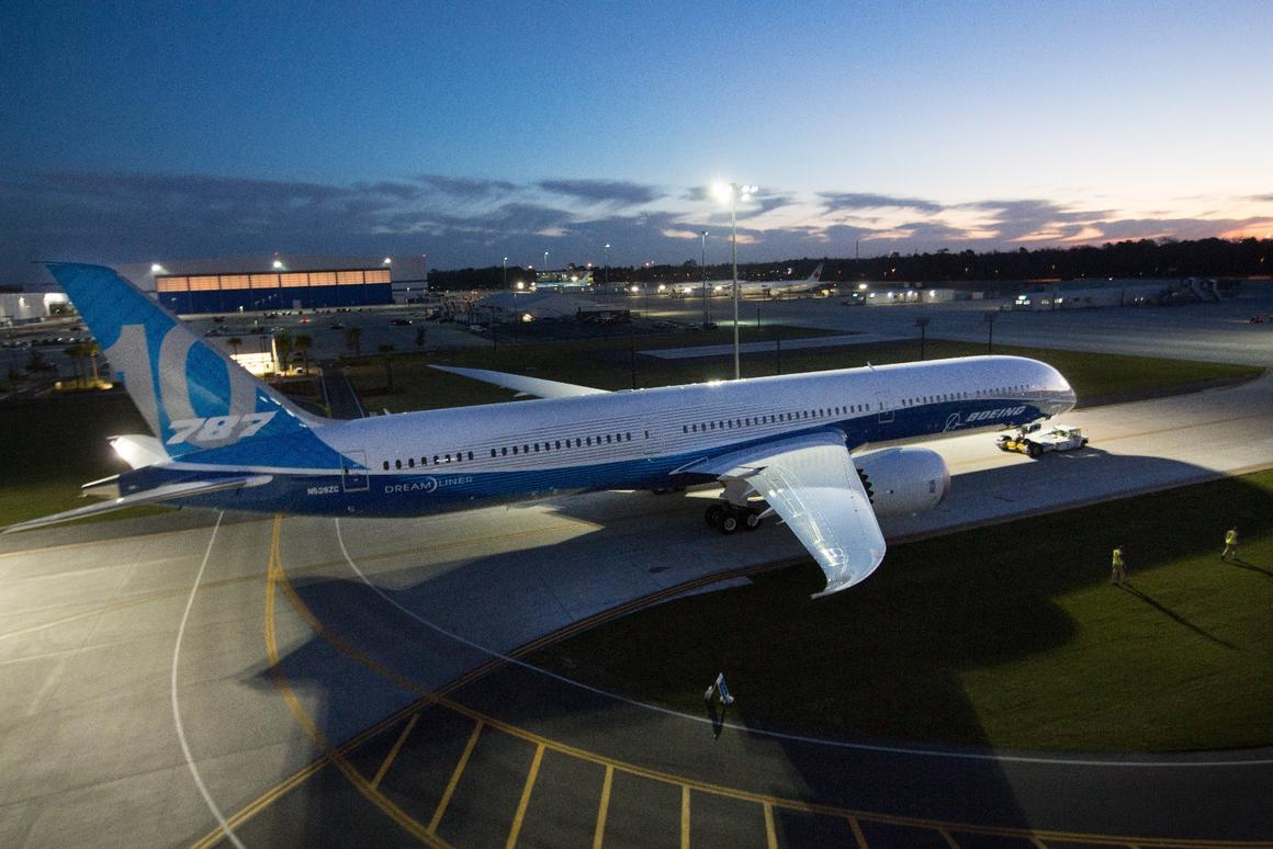 The new 787-10 Dreamliner was launched in SouthCarolina today