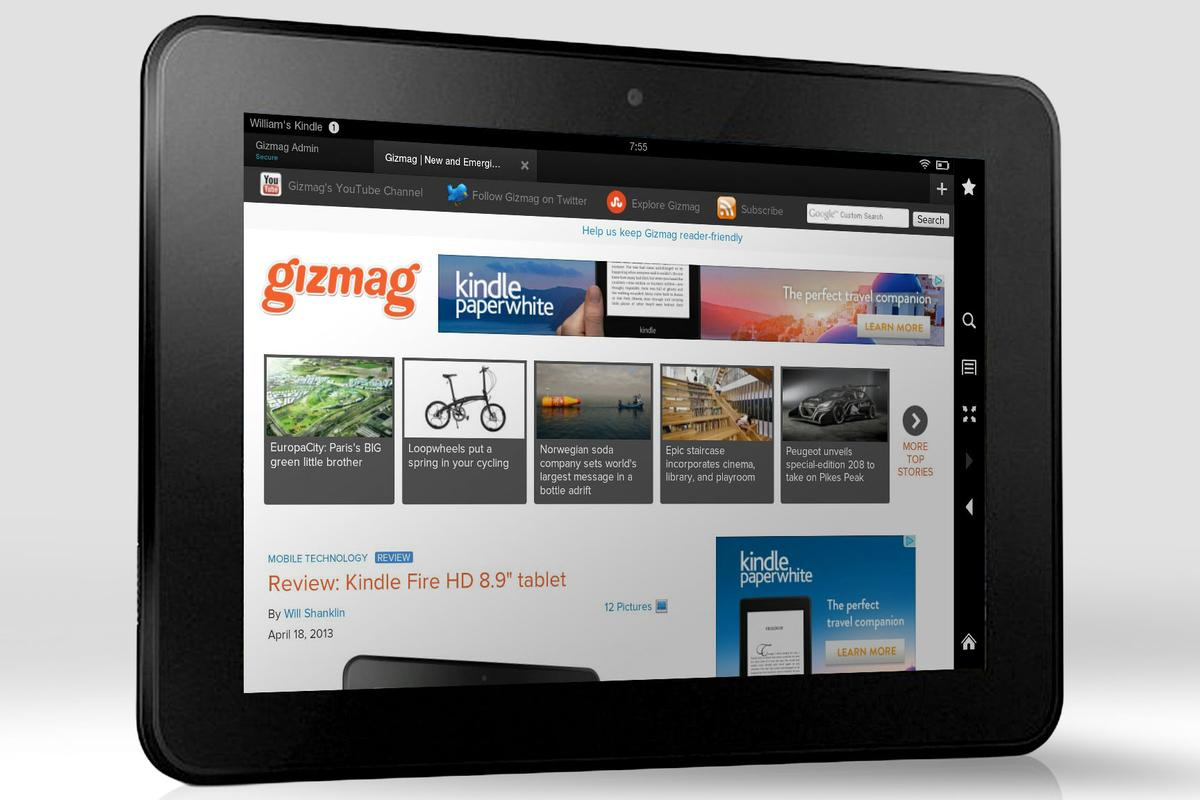 """Gizmag reviews the Kindle Fire HD 8.9"""""""