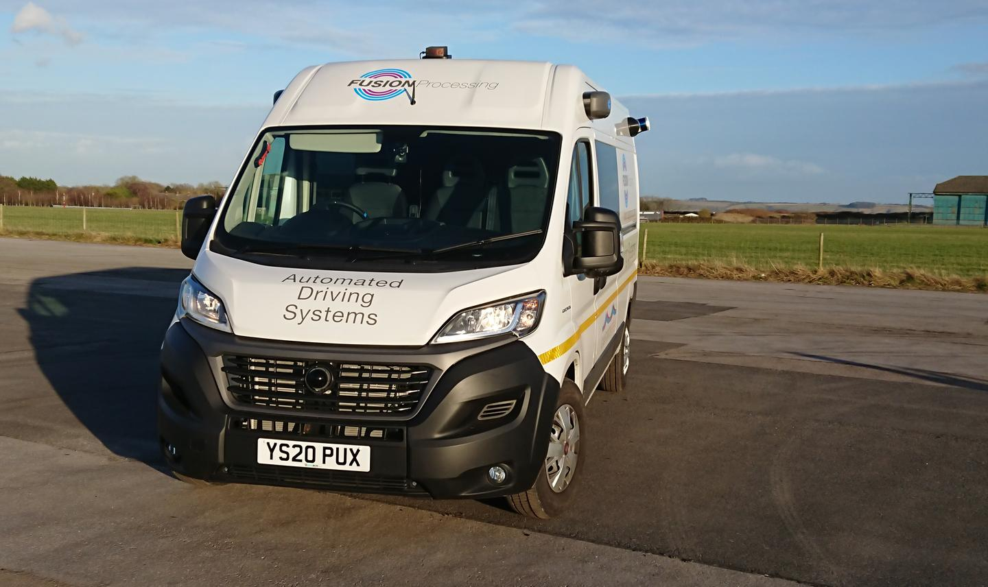 Fusion Processing equips a long-wheelbase Ducato crew van with its Level 4/5 autonomous driving hardware