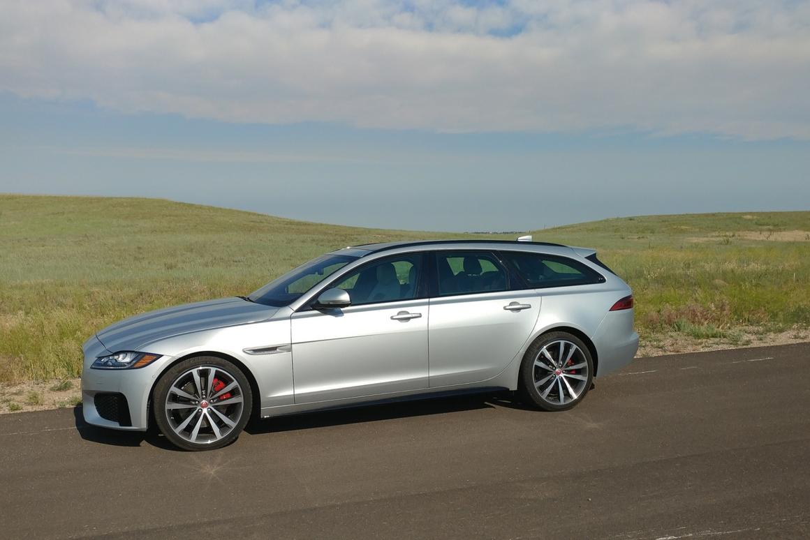The estate body style of the XFSportbrake brings better balance to the car's drive dynamics