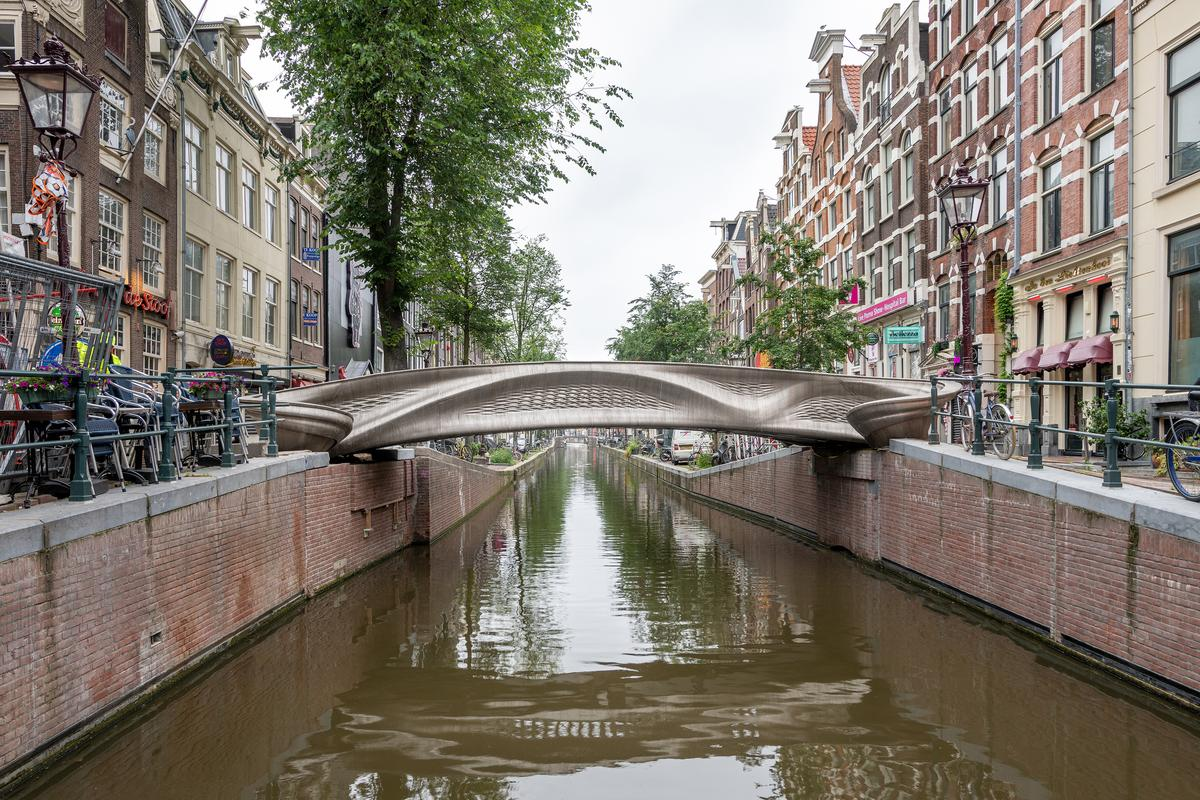 World's First 3D-Printed Stainless Steel Bridge Opens in Amsterdam