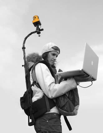 yellowBird's 360-degree video capture setup