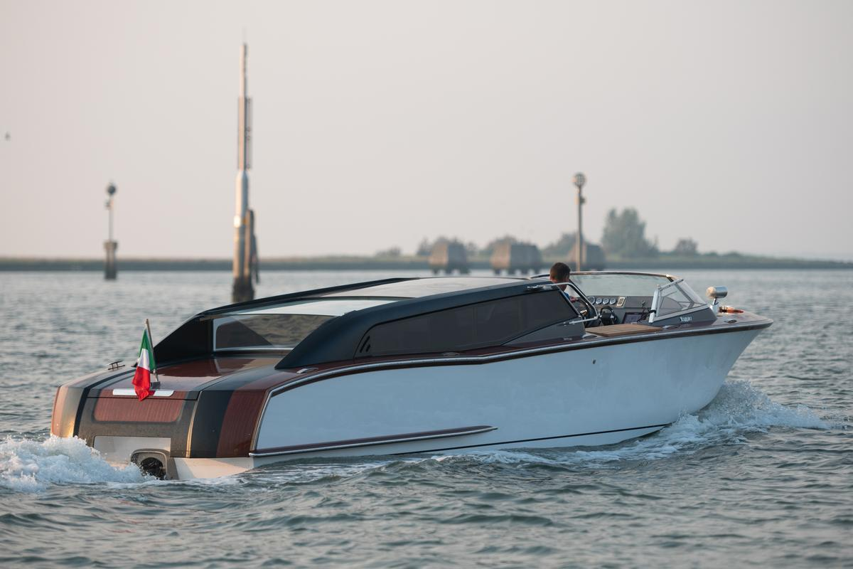 Nuvolari Lenard adds modern cues and propulsion to a classic boat design