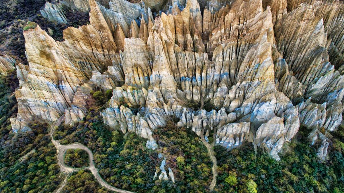 Omarama clay cliffs on the southern island of New Zealand