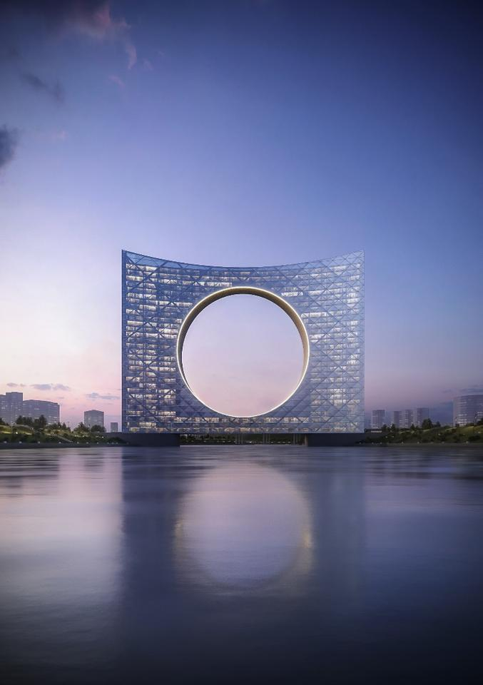 The Tower of the Sun is an eye-catching concept envisioned for Astana, Kazakhstan