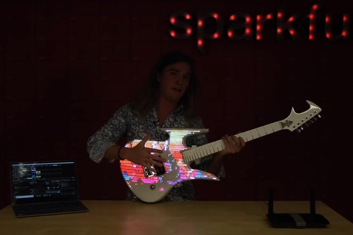 An already rare custom guitar made one-of-a-kind by Sparkfun's Andy England