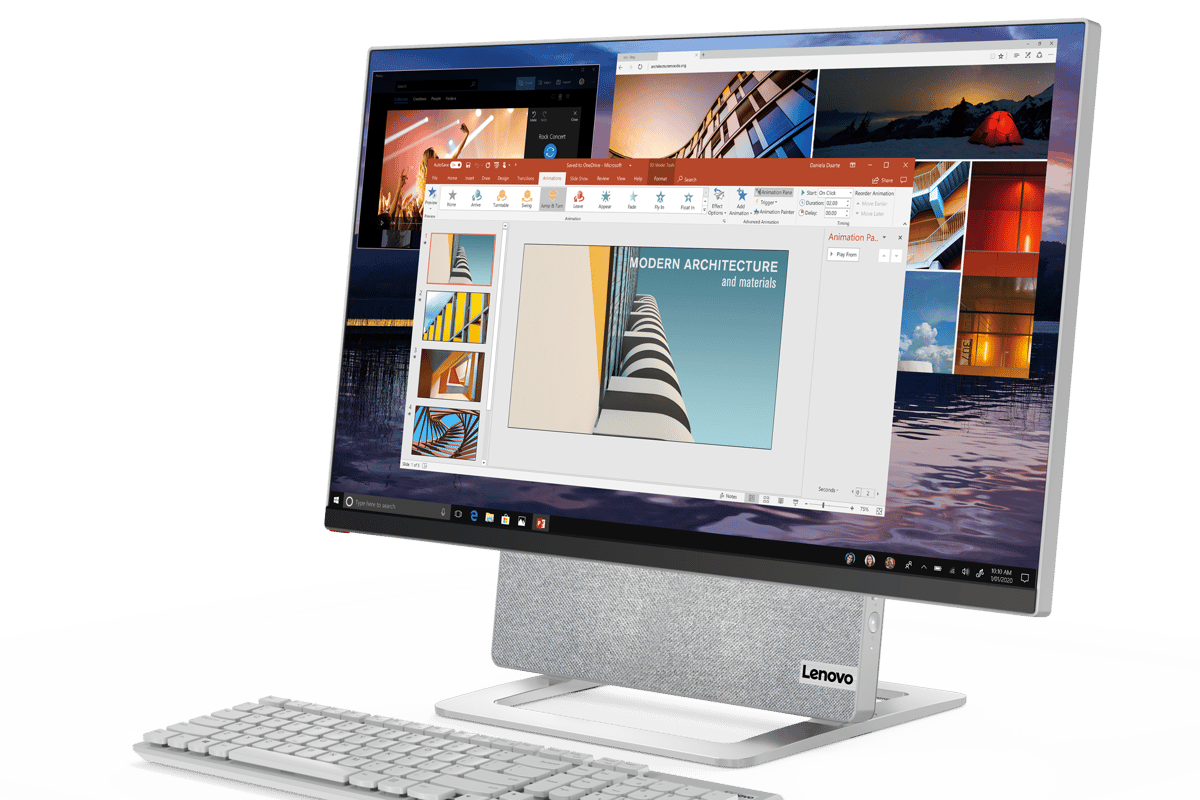 The Yoga AIO 7 comes bundled with a wireless keyboard and mouse