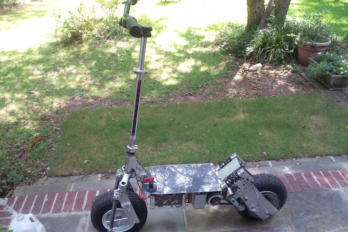 The Katz electric scooter is ready to roll