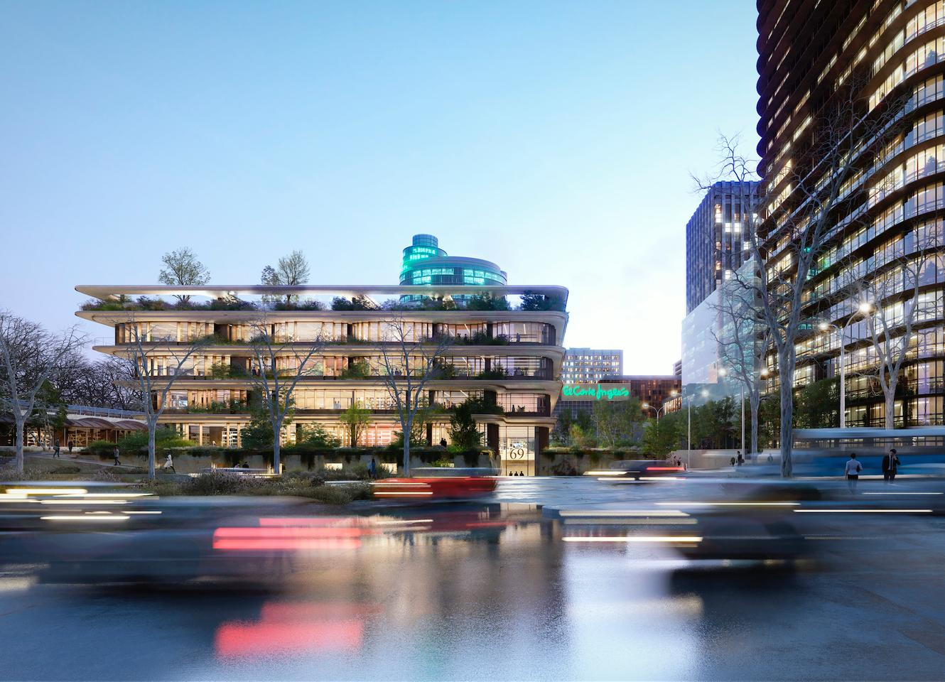 Castellana 69's exterior will be feature significant greenery, which will help shade the office spaces within