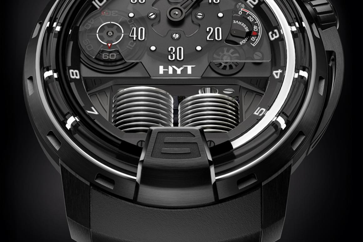 The HYT H1 Ghost uses a liquid-filled capillary tube instead of hands for the retrograde complication
