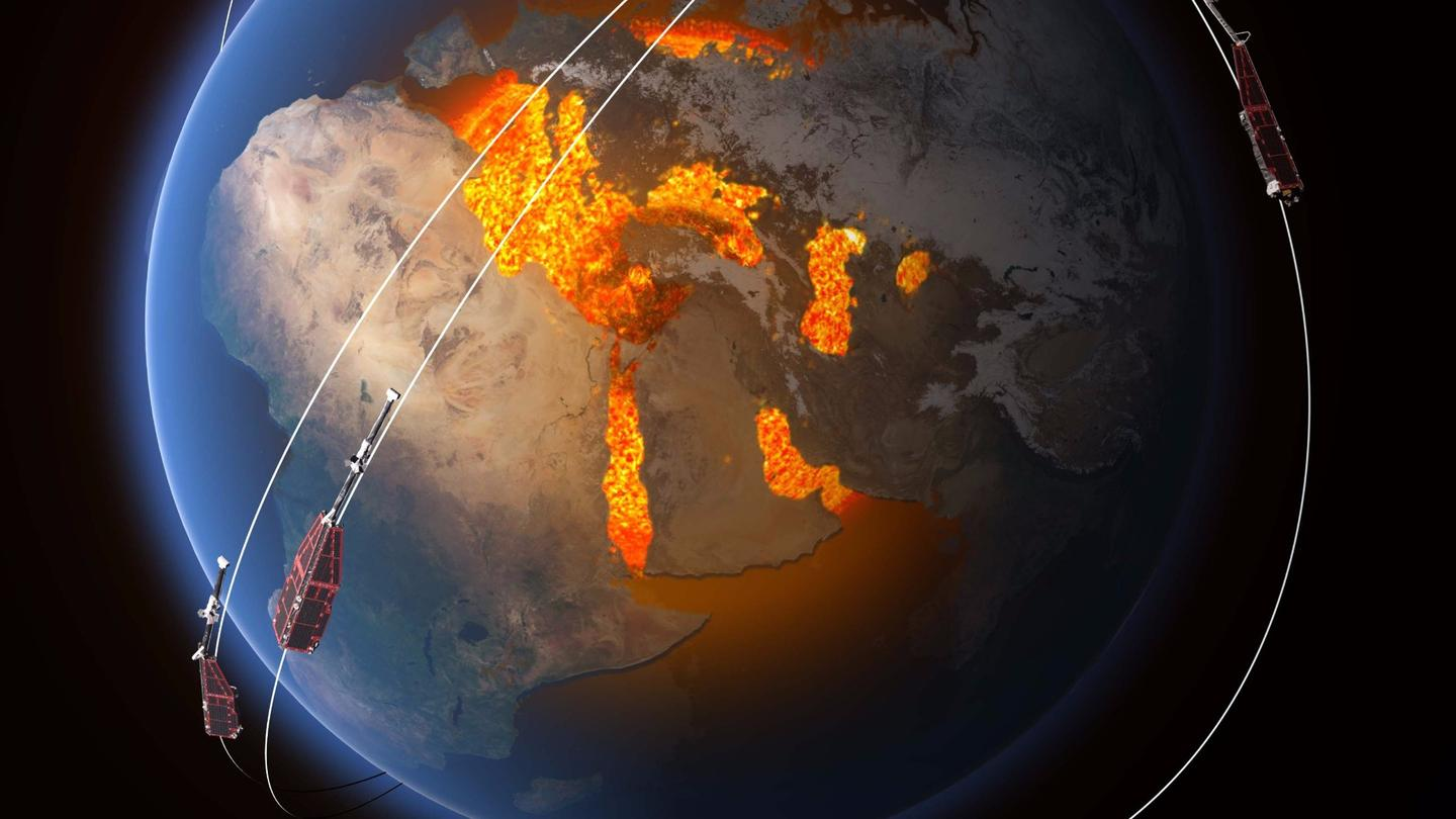 Since launching at the tail end of 2013, ESA's Swarm satellites have been studying the different magnetic signals that emanate from the planet's core, mantle, crust, oceans, all the way out to the ionosphere and magnetosphere