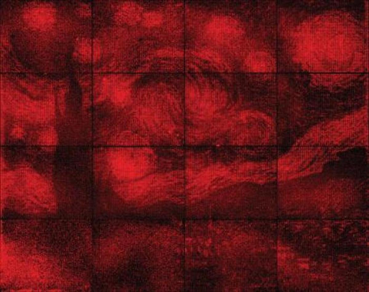 Researchers at Caltech have recreated Vincent van Gogh's The Starry Nightusing the process of DNA origami and fluorescent molecules