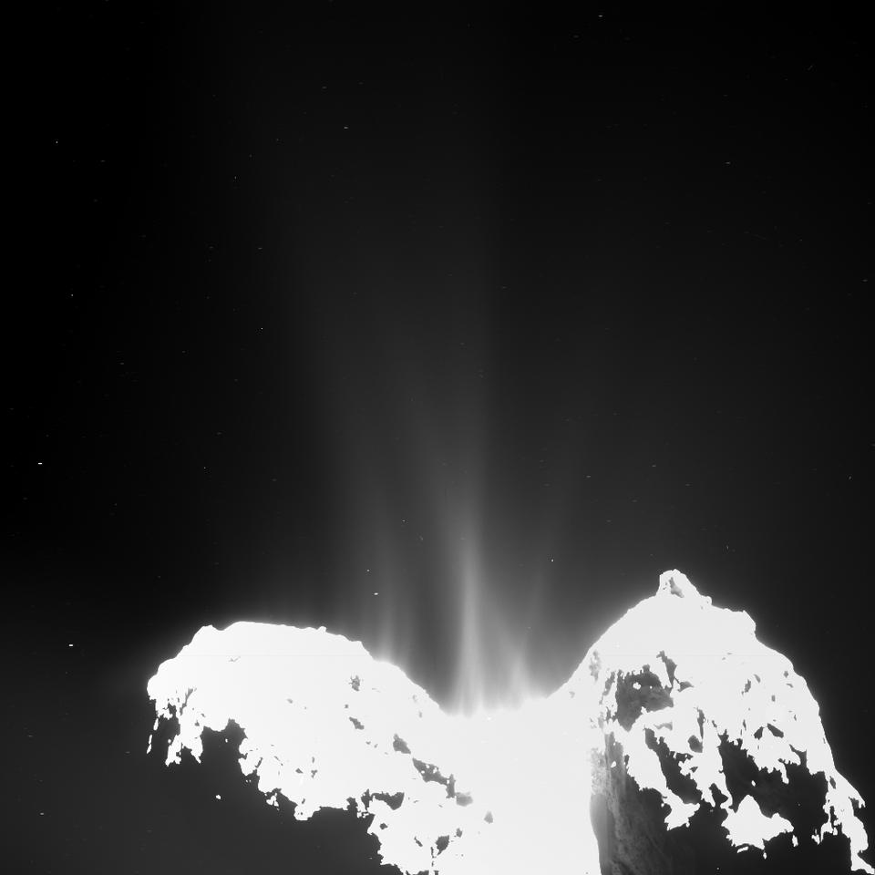 Chemicals outgassing from comet 67P/Churyumov–Gerasimenko