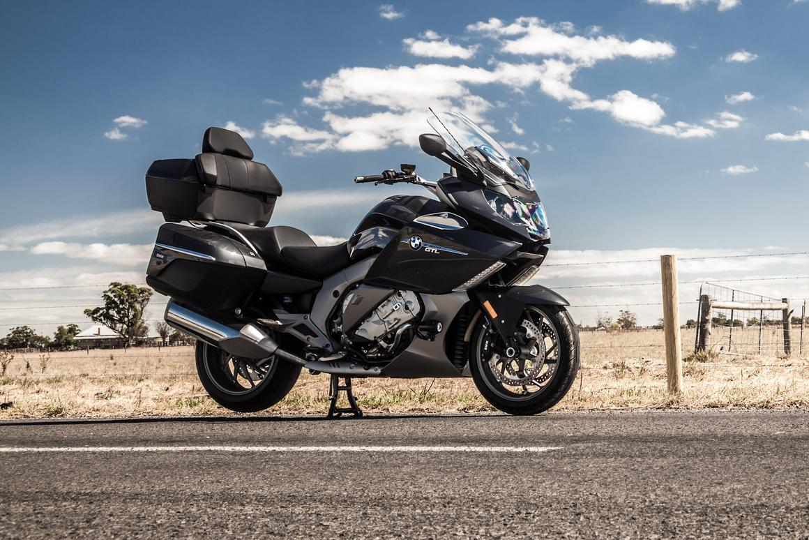 Review: BMW's K1600GTL, featuring headlights that look