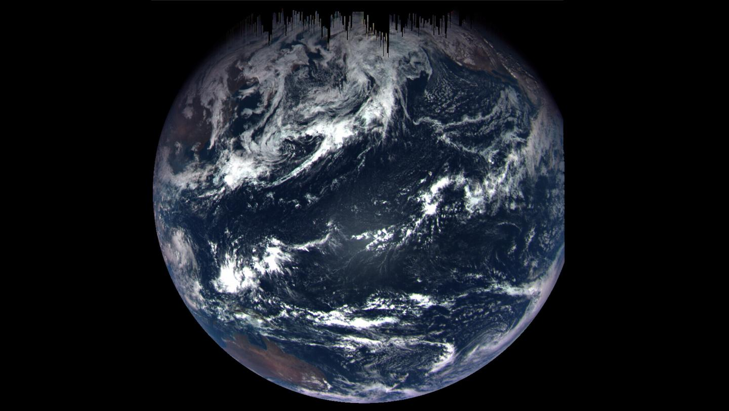 Color composite image of Earth taken by OSIRIS-REx MapCam soon after the probe completed its flyby of Earth
