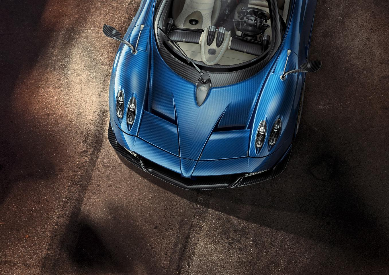 A bird's eye view of the new Pagani Huayra Roadster