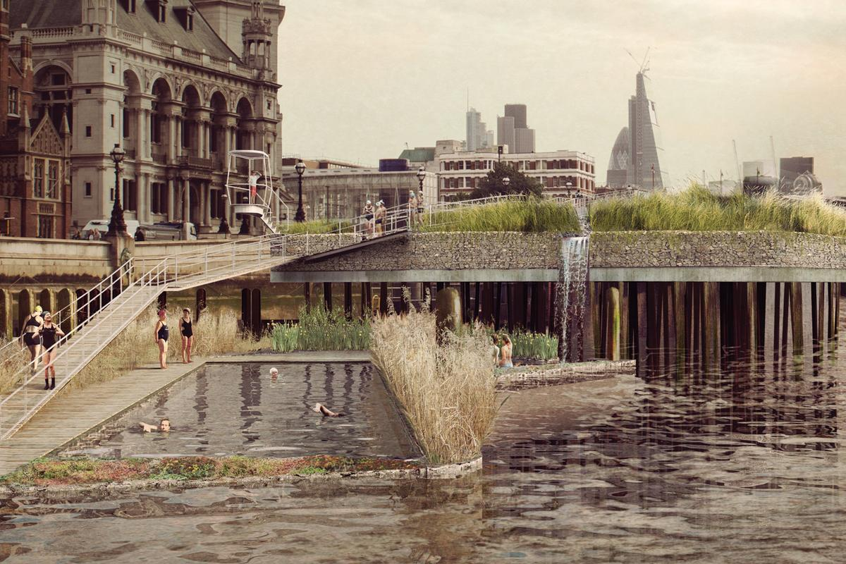 Studio Octopi has designed concepts for swimming pools in the River Thames