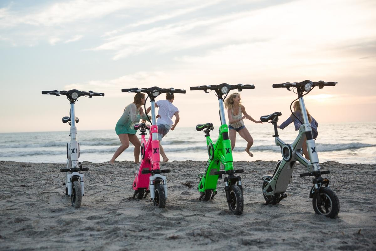 The X1 Explorer is reported to be good for beach-combing, though the small wheels could be a problem in shifting sand