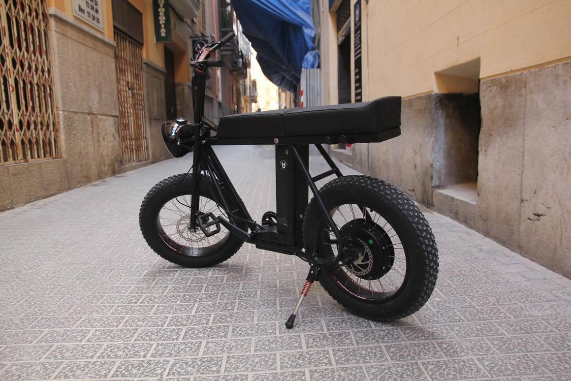 The Moke e-bike's biggest distinguishing feature is its long bench seat