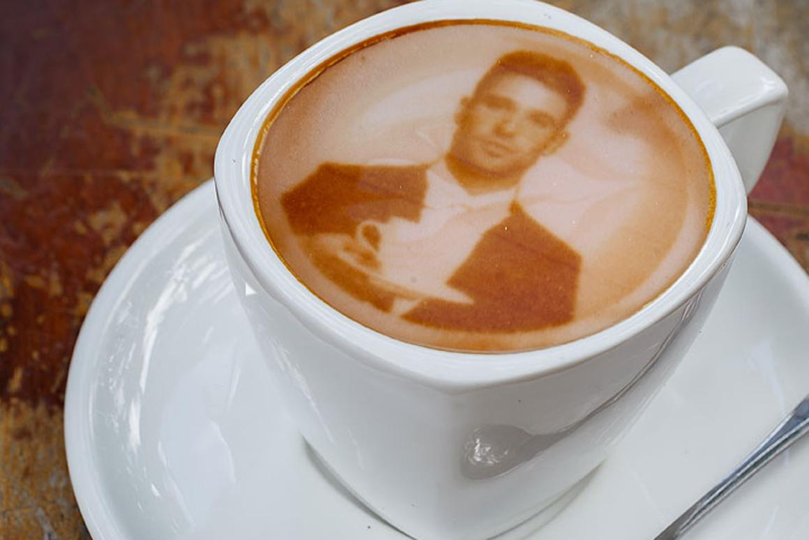 The Ripple Maker uses coffee extract to print images on foam-topped drinks