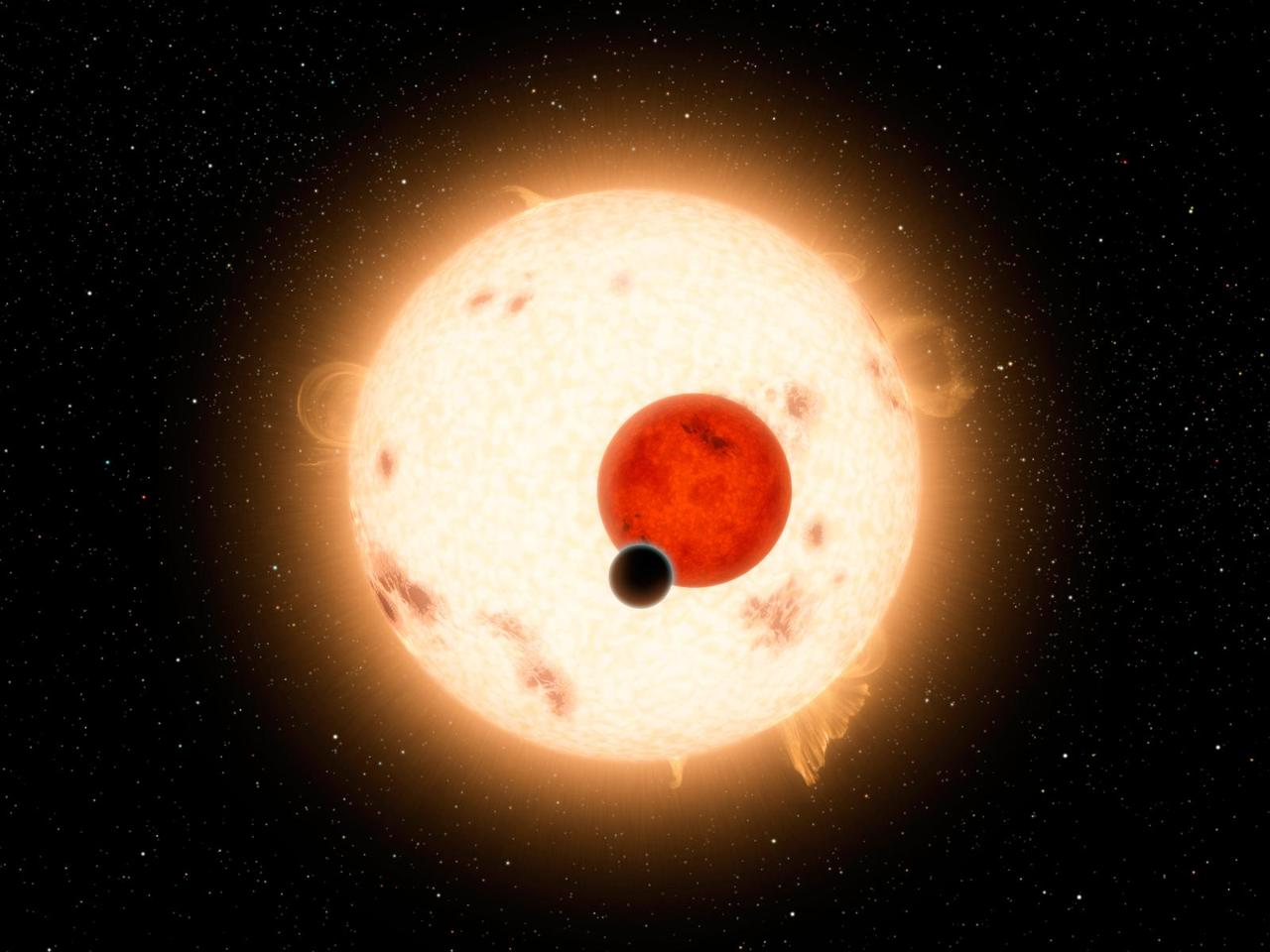 NASA's Kepler mission has discovered a world where two suns set over the horizon instead of just one (Image: NASA/JPL-Caltech/R. Hurt)