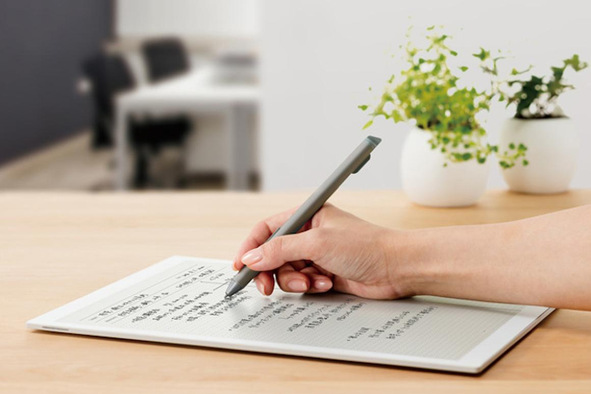 Sony has unveiled an upgraded version of its office-focused Digital Paper tablet