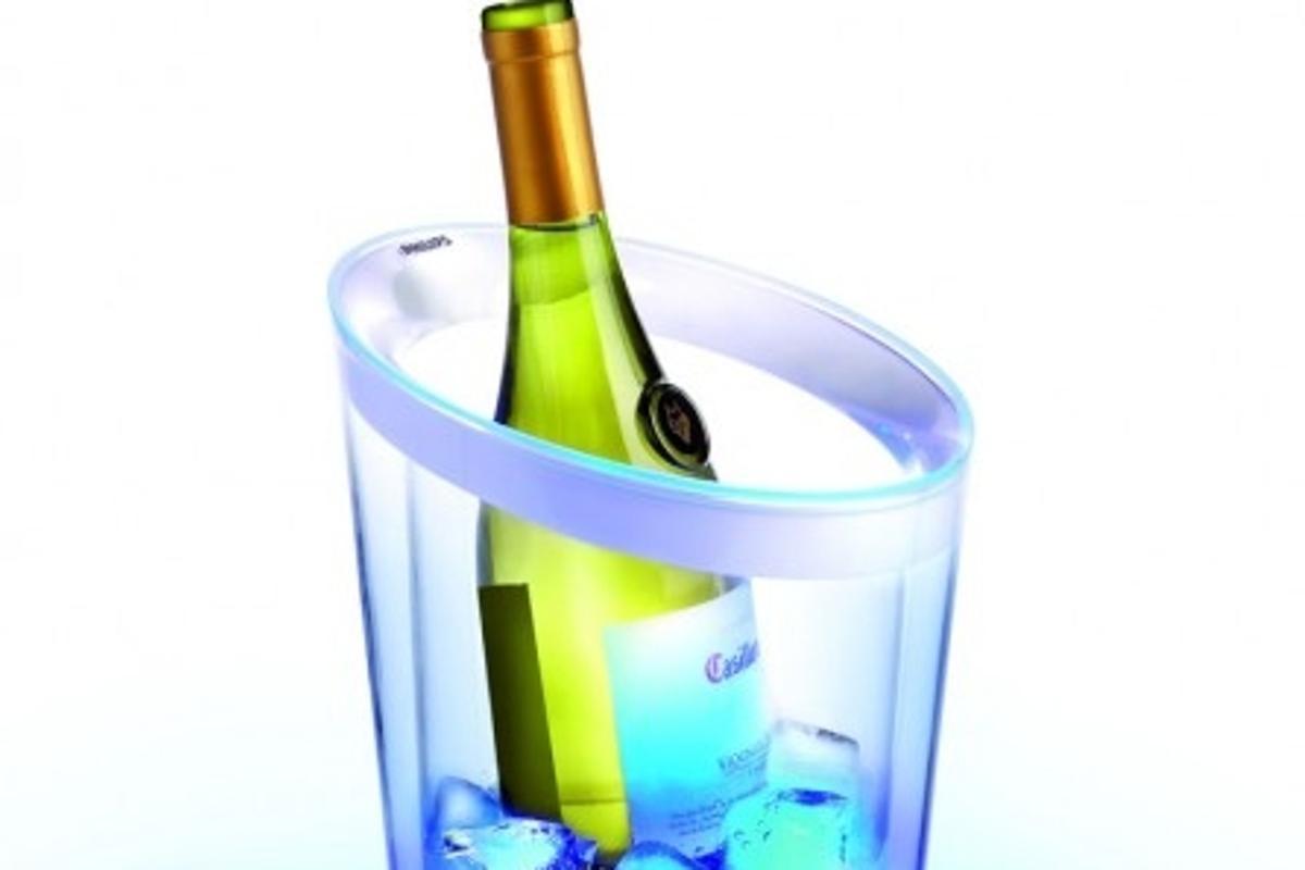 Philips LED-illuminated wine cooler