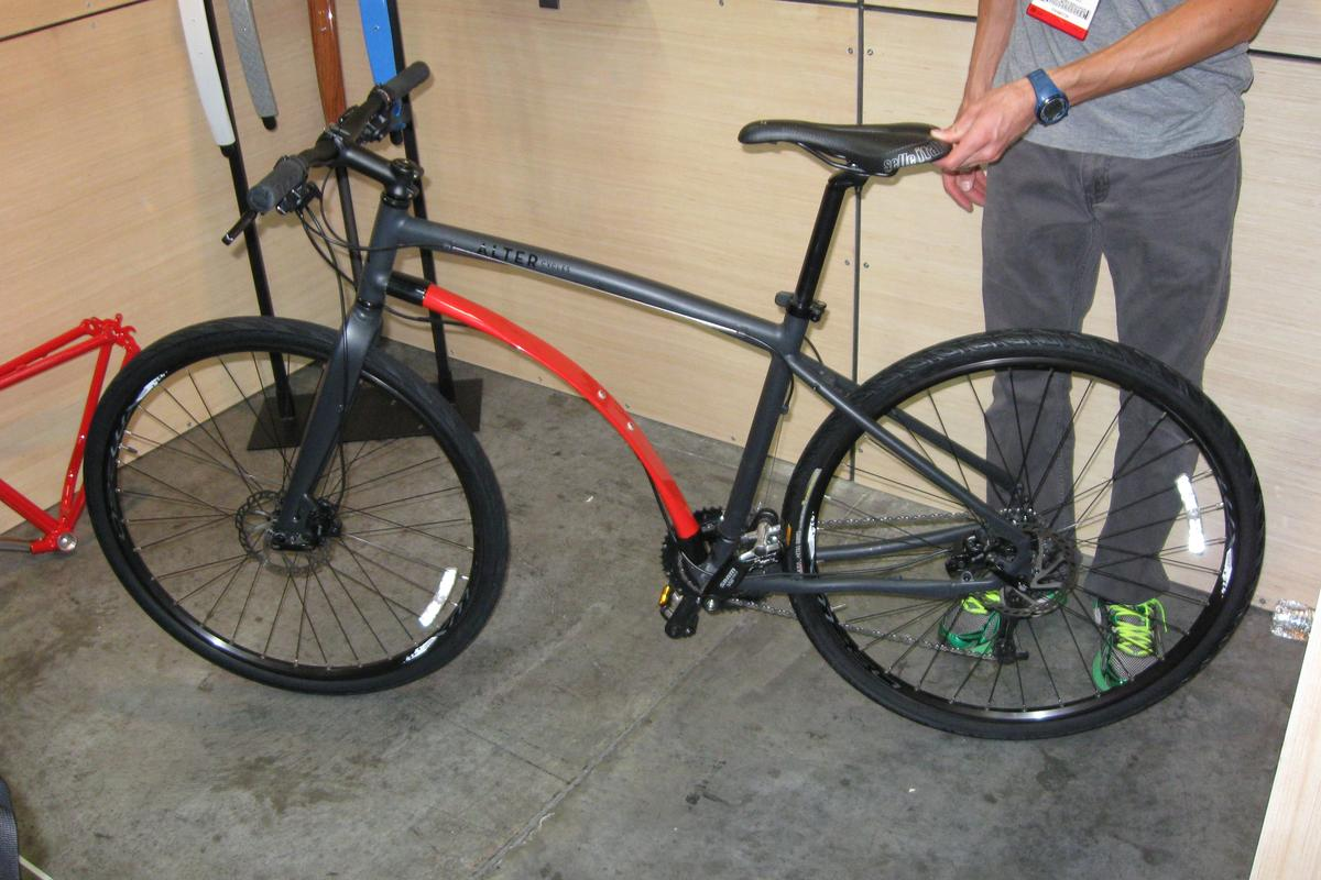 One of Alter Cycles' hybrid bikes, on display at Interbike 2013