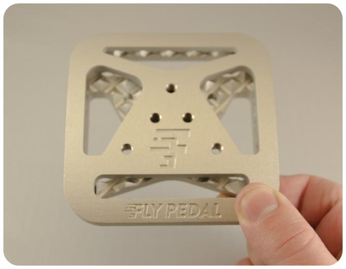 FlyPedals are aluminum adapters designed to work with both two-bolt and three-bolt pattern cleats