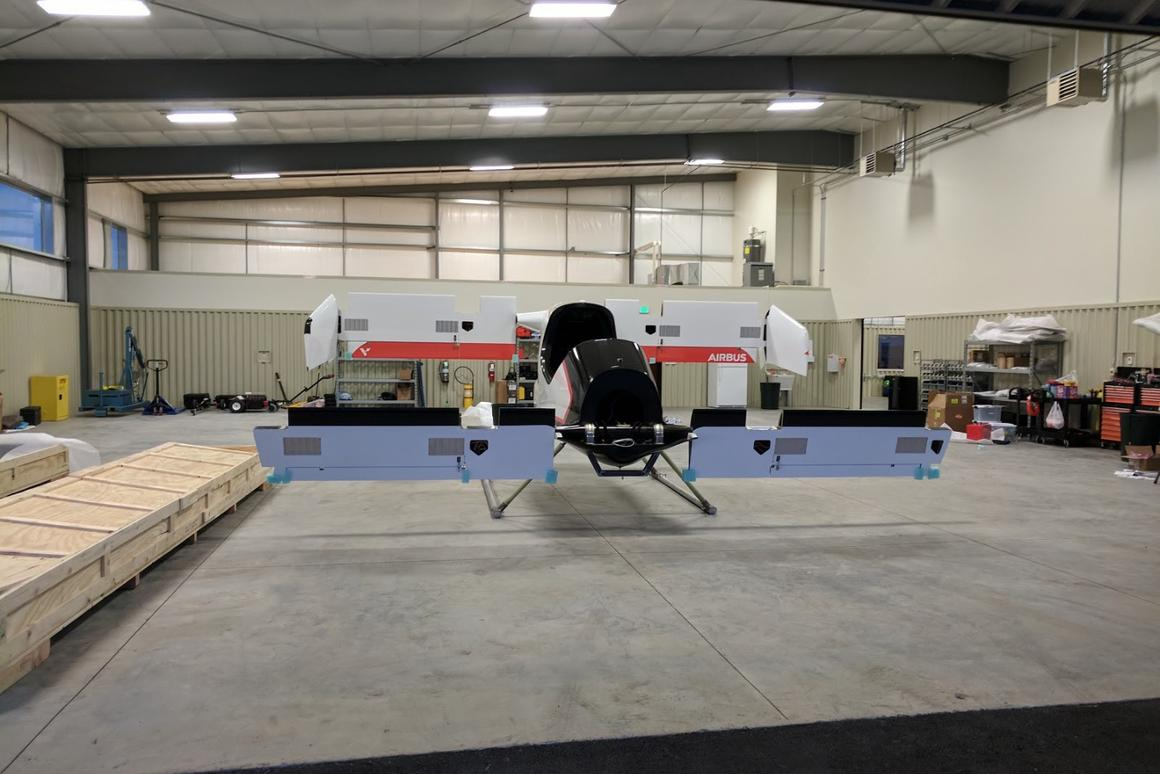 Electric self-piloted Airbus VTOL aircraft completes first