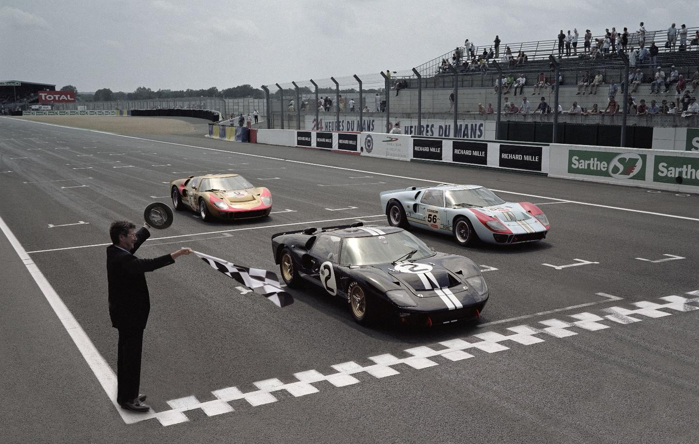 Ford recreates its 1966 Le Mans 1-2-3 finish