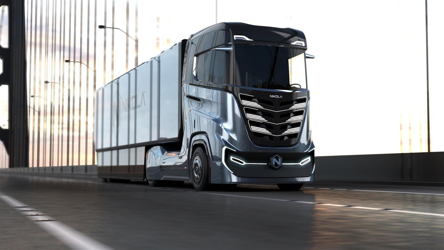 "Testing of the Nikola Tre hydrogen-electric semi is due to begin in Norway ""around 2020"""