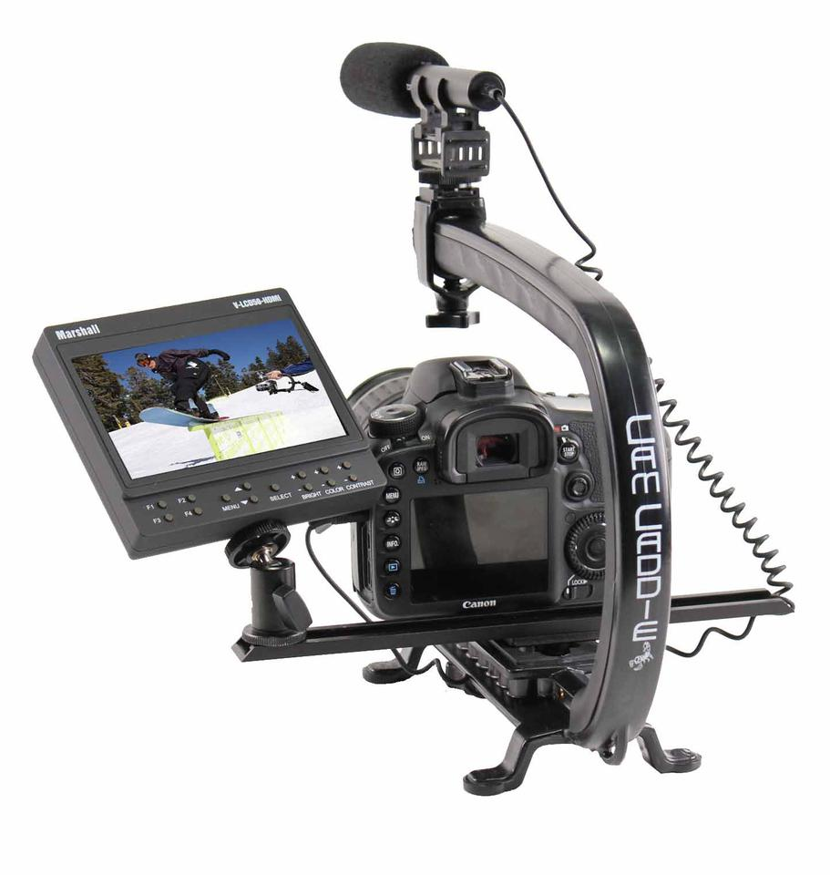 A Cam Caddie Scorpion, with added shotgun mic, monitor and accessory wing (Photo: Cam Caddie)