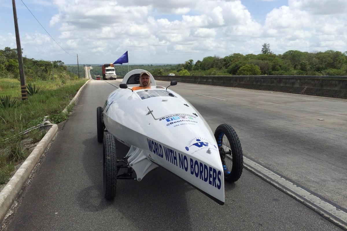 Ebrahim Hemmatnia on the road in Brazil
