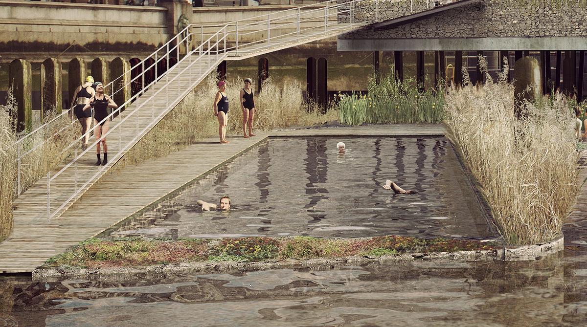 The Thames Bath project, by Studio Octopi (Image: Studio Octopi & Picture Plane)