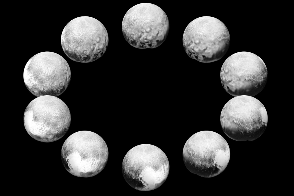 Image displaying a full rotation of Pluto