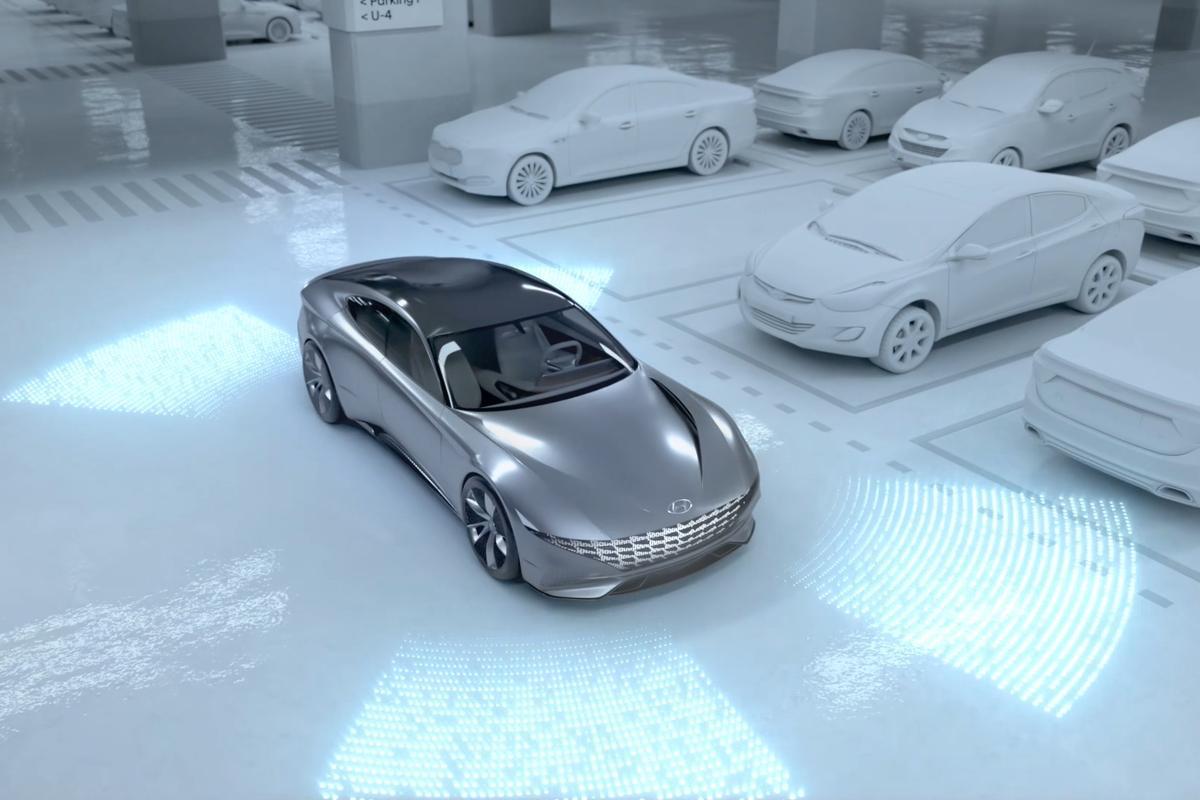Hyundai's vision of future autonomous park 'n' charge centers