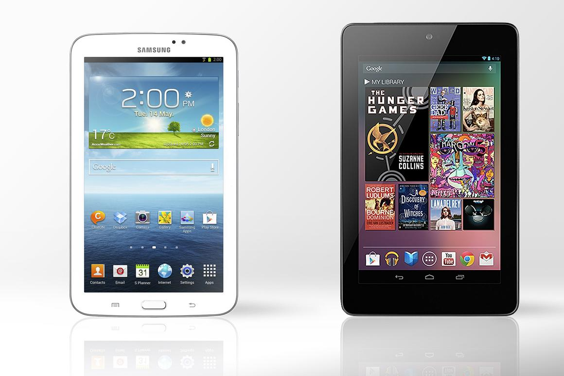 Gizmag compares the specs (and other features) of the Samsung Galaxy Tab 3 and Nexus 7