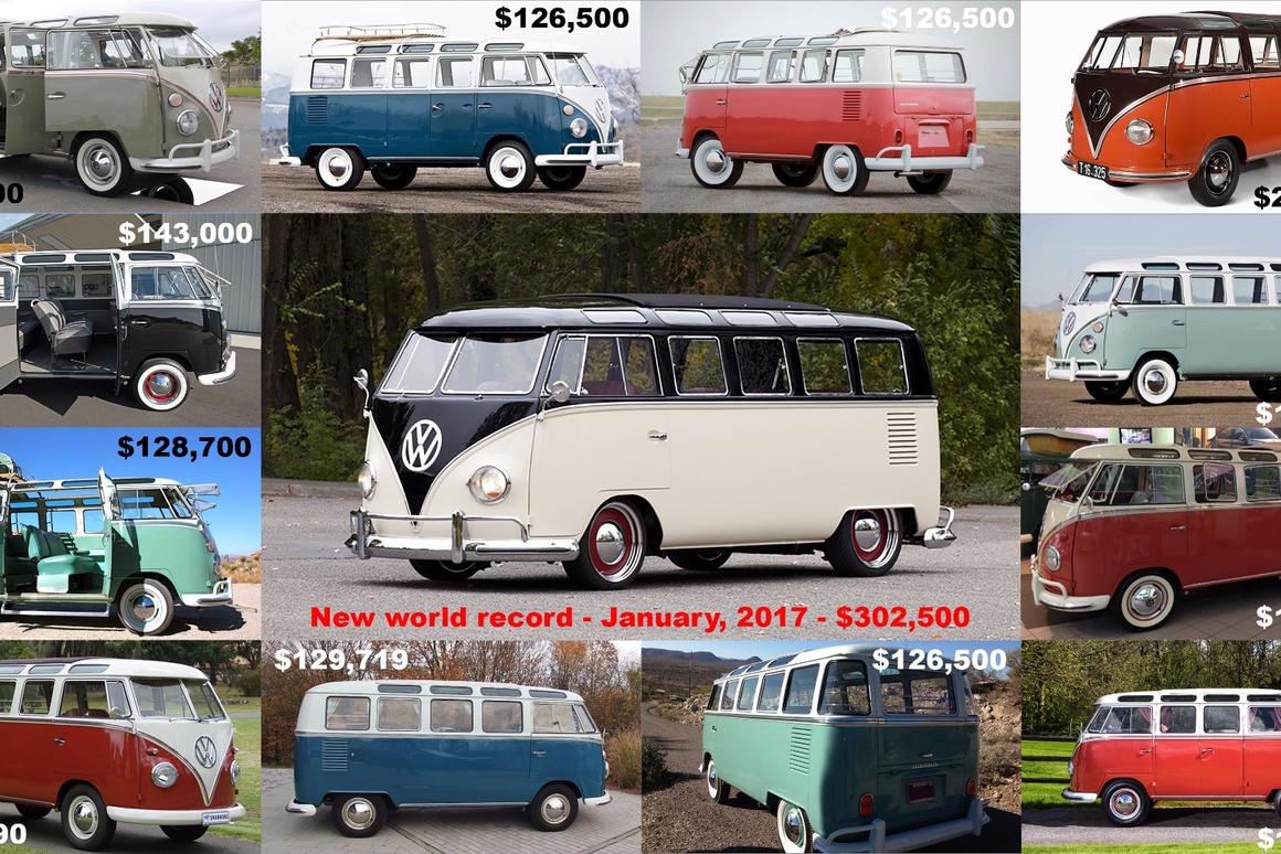 The last five years has seen one of the enduring icons of sixties personal freedom appreciatein value so quickly that many owners may not know the value of their car could soon eclipse the value of their home.Last Saturday, January 21, 2017, a 21-window Volkswagen Samba sold for $302,500, indicating that the trend is further accelerating.