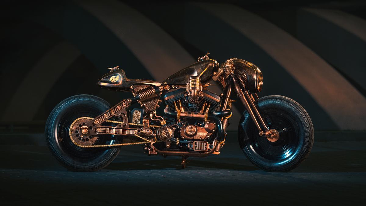 Music-inspired custom Harley rocks Kraków